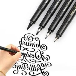 1PC Black Ink Calligraphy Pen Hand Lettering Brush Writing D
