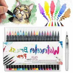20 Colors Watercolor Drawing Painting Artist Sketch Marker P
