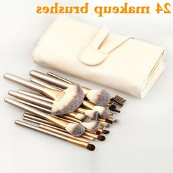 24Pcs Makeup Brushes Set Kabuki Loose Powder Blush Eye Shado