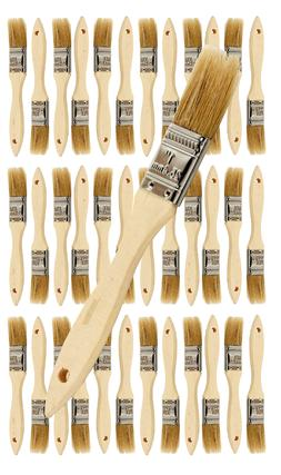 36 Pk- 1 inch Chip Paint Brushes for Paint, Stains,Varnishes