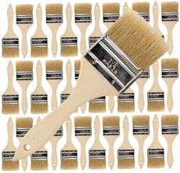 36 Pk- 2.5 inch Chip Paint Brushes for Paint, Stains,Varnish