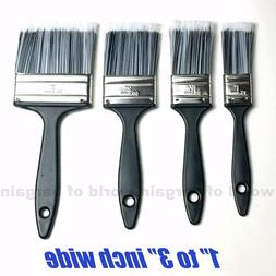 """4pc Paint Brushes 1""""- 3"""" Wide HALF DENSITY Bristles for Hous"""