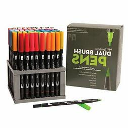 Tombow 56149 Dual Brush Pen Art Markers, 96 Color Set with D