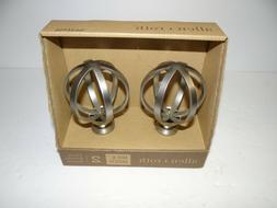 Allen & Roth Brushed Nickel Finials 1 Pair Curtain Rod Finia