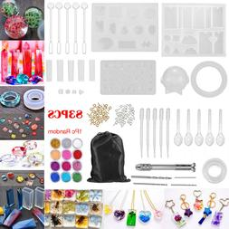 83PCS Resin Casting Silicone Molds Epoxy Spoon Kit Jewelry M