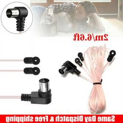 FM Antenna 75 Ohm F Type Male Plug for Home Radio Stereo Sig