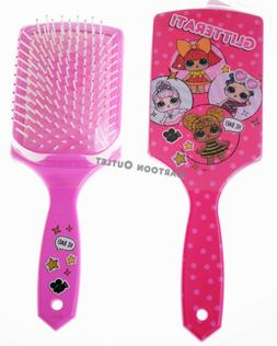LOL SURPRISE GIRLS PADDLE LARGE HAIR BRUSH PINK GLITTER QUEE