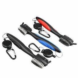 Golf Iron Brush Groove Cleaner Dual-Sided Nylon Cleaning Scr