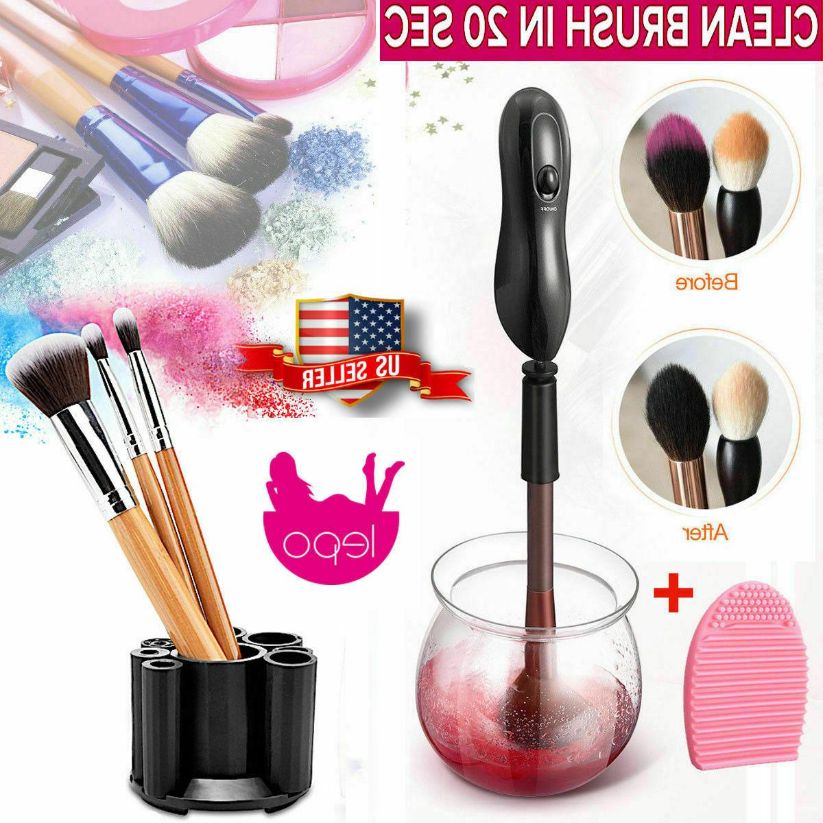 professional electric cosmetic makeup brush cleaner dryer