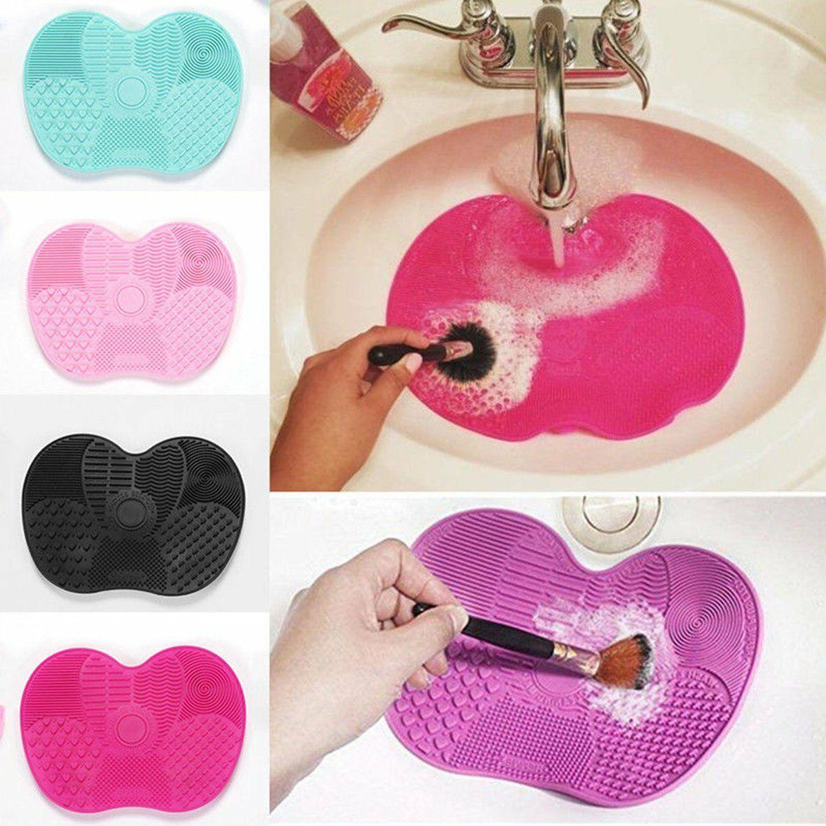 silicone makeup brush cleaner washing scrubber board