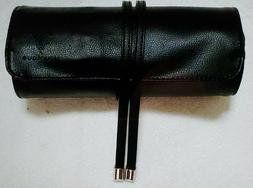 Younique Makeup Brush Case Roll Up Bag With Zipper Pouch & T