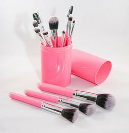 Makeup Brush Set - 12 Piece Kit with Case for