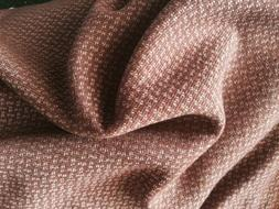 """Rust Ivory Coat Wool Fabric 58"""" Width Sold By The Yard"""