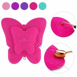 silicone makeup brush cleaner pad washing scrubber