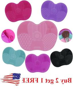 Silicone Makeup Brush Cleaner Pad Washing Scrubber Board Cle